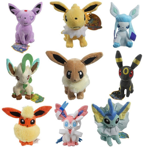 "Pokemon Eevee Evolution Plush Toy (8"")"