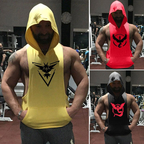Pokemon GO Men's Hoodie Team Singlets/Tank Tops