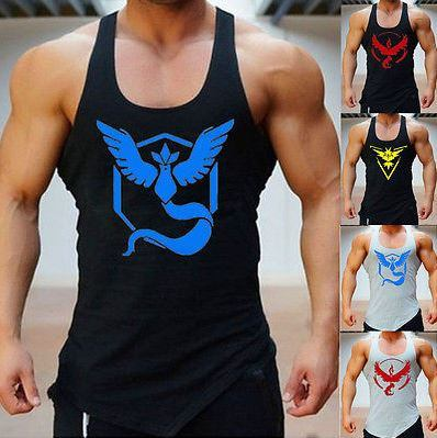Pokemon GO Men's Slim Fit Singlets/Tank Tops