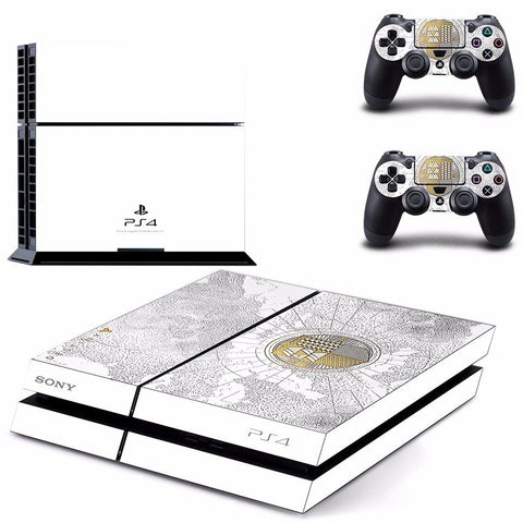 Destiny Limited Edition White Vinyl Skin Sticker for PS4 Console and Controllers