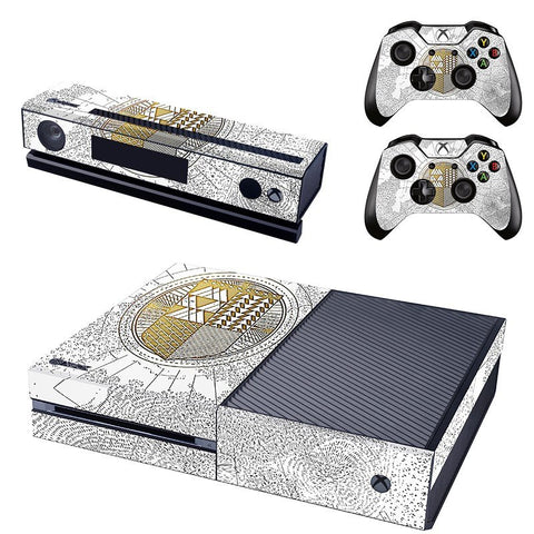 Destiny Limited Edition White Vinyl Skin Sticker for XBOX One Console, Kinect and Controllers
