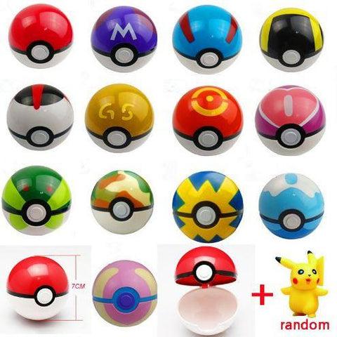 1pc Pokeball + 1pc Free Random Pokemon Action Figure