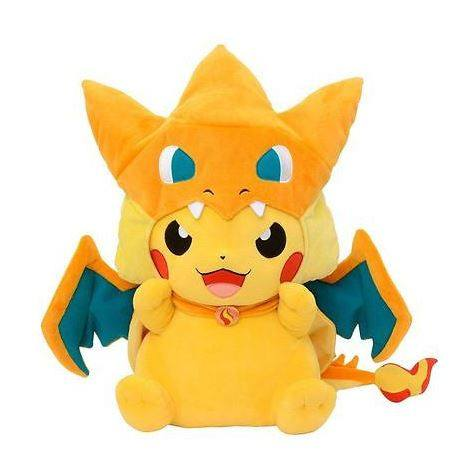 Pokemon Pikachu With Charizard Poncho Plush Toy