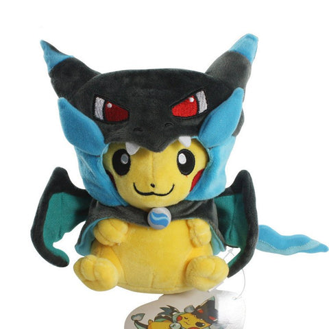 Pokemon Pikachu With Mega Charizard X Poncho Plush Toy (Limited Edition)