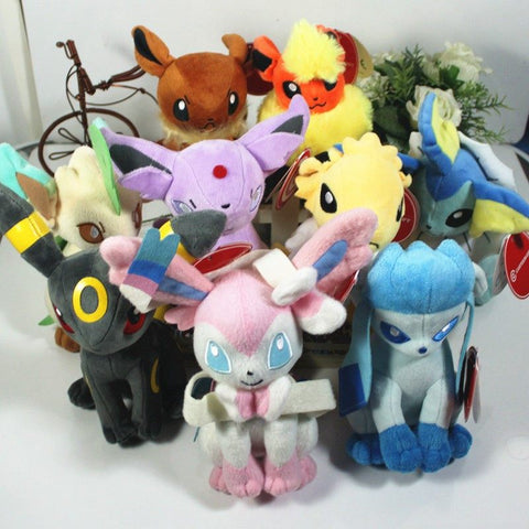 Pokemon Eevee Evolution 9pieces Set Plush Toy
