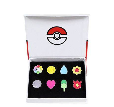 Pokemon GO Kanto League Gym Badges Collection Set