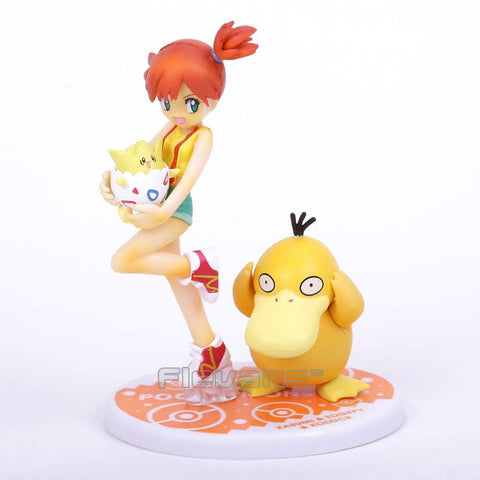 Pokemon Misty (Kasumi) with Togepi and Psyduck Action Figures (10.5cm)