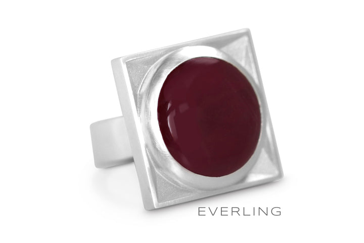 Custom Ruby Cabochon Cocktail Ring. www.EverlingJewelry.com