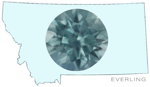 0.90ct Round Teal Montana Sapphire cut by Dan Canivet and untreated. www.EverlingJewelry.com