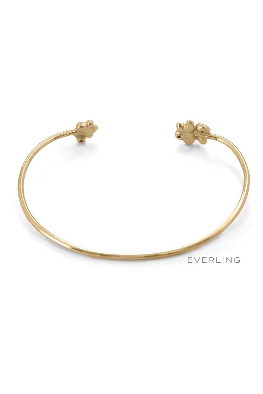 Back- Recycled 14K Yellow Gold Bubble and Diamond Accent Cuff Bracelet. #designerjewelry www.everlingjewelry.com