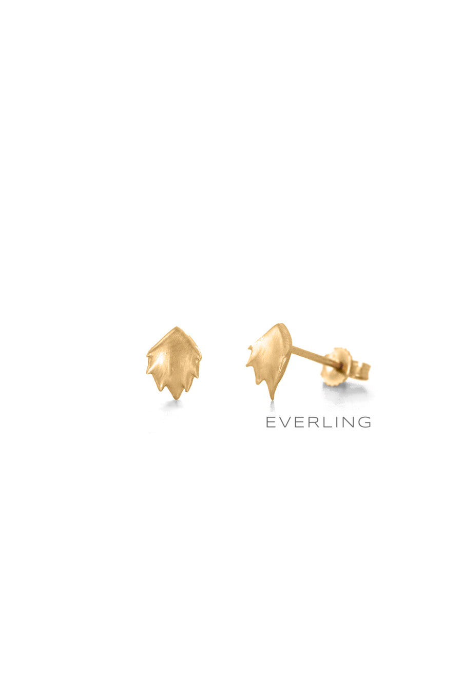 Recycled 14K Yellow Gold Bear Paw Design Stud Earrings. #studearrings #organicjewelry  www.everlingjewelry.com