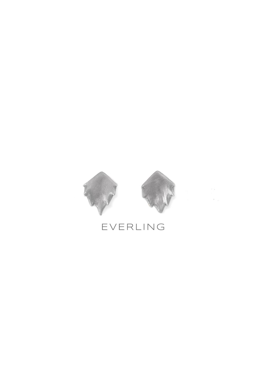 Recycled 14K Yellow Gold and Sterling Silver Bear Paw Design Stud Earrings. #studearrings #organicjewelry www.everlingjewelry.com