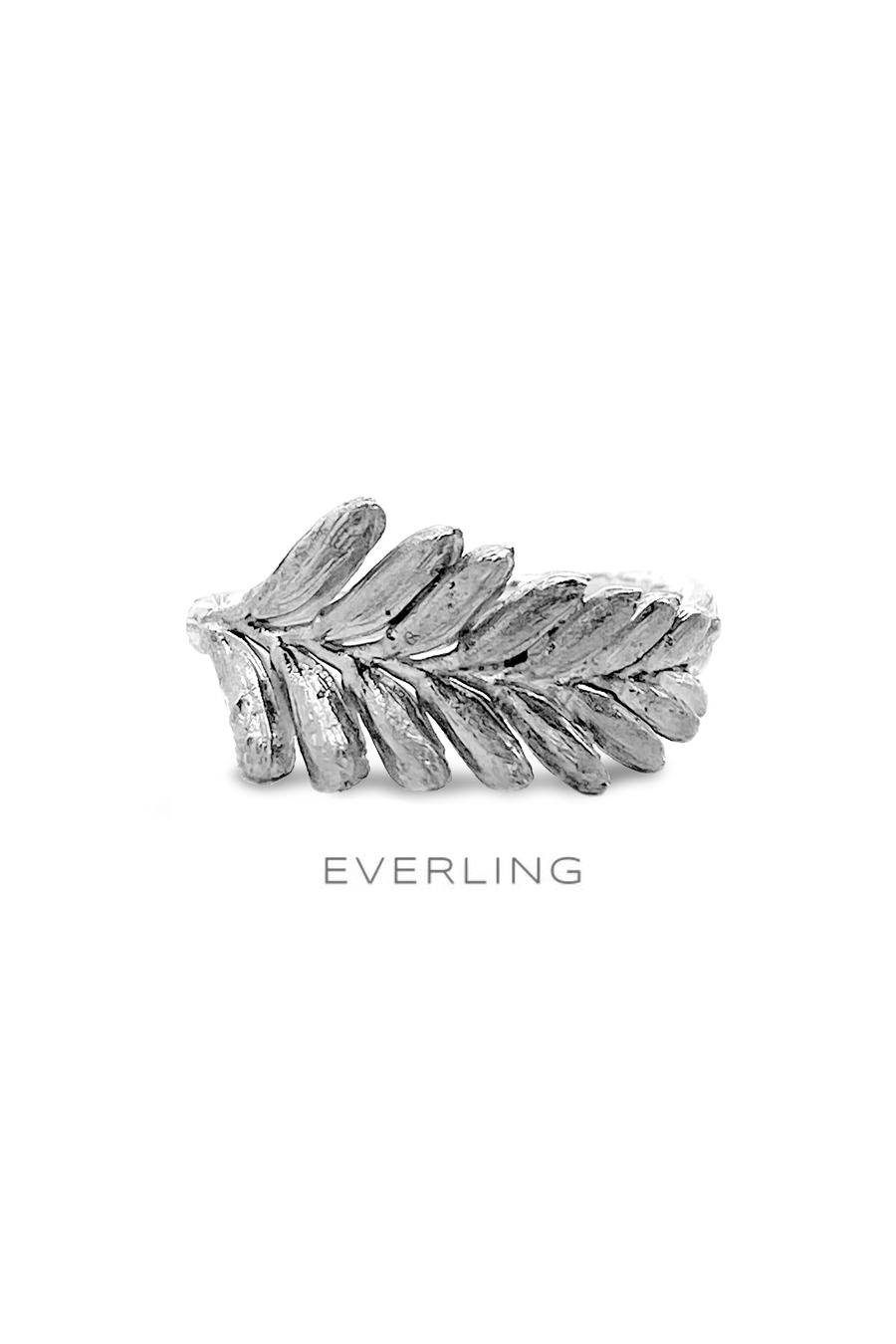 Sterling silver cast crocosmia flower band