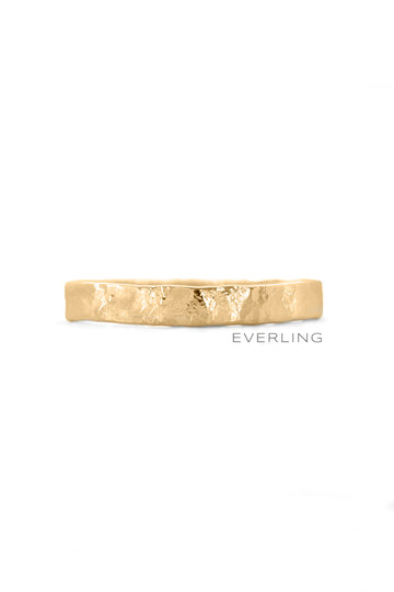 Up-cycled 14k Yellow Gold Textured Band #goldring #weddingband www.everlingjewelry.com