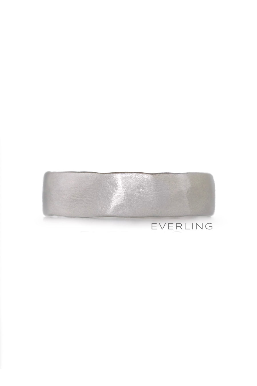 Up-cycled 14K White Gold Textured Band #weddingbands #designerjewelry www.everlingjewelry.com