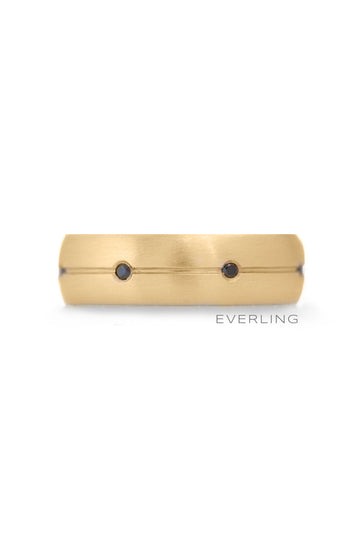 Up-cycled 14K Yellow Gold and Black Diamond Eternity Band. #weddingrings www.everlingjewelry.com