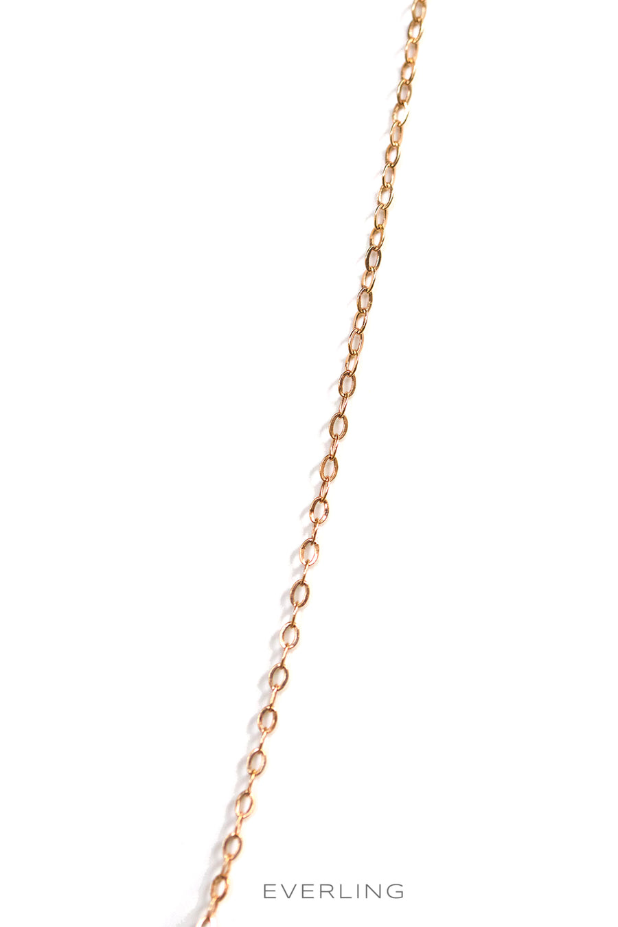 "Detail-14K Rose Gold 36"" Link Chain. #pinkgold #goldchains www.everlingjewelry.com"