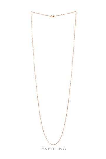 "14K Rose Gold 36"" Link Chain. #pinkgold #goldchains www.everlingjewelry.com"