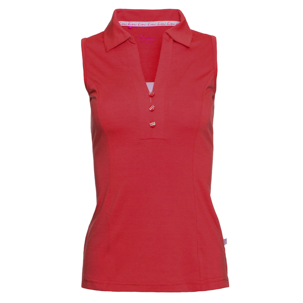 BLAKE - Sleeveless solid top