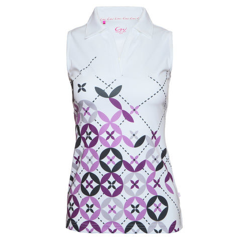 OLIVIA - Sleeveless printed top