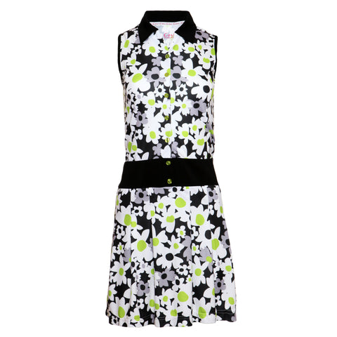 TEAGAN - Sleeveless printed dress