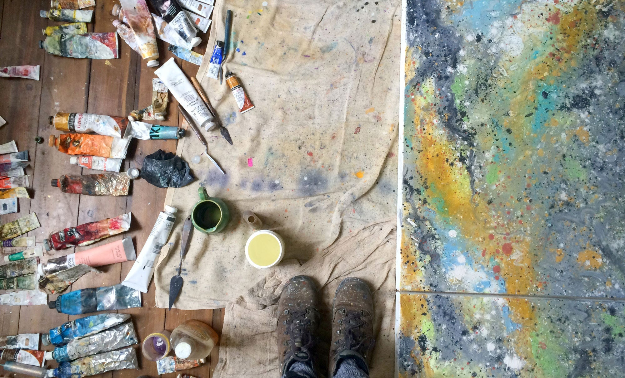 Sonya Rothwell's studio at Gallery Beautiful