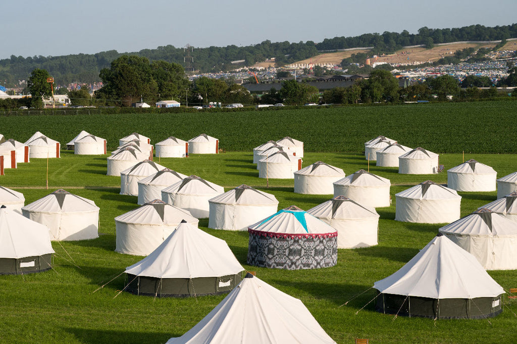 DAISY LOWE ASKED SONYA ROTHWELL OF GALLERY BEAUTIFUL TO DECORATE HER YURT AT YURTEL FOR GLASTO FESTIVAL GLAMPING