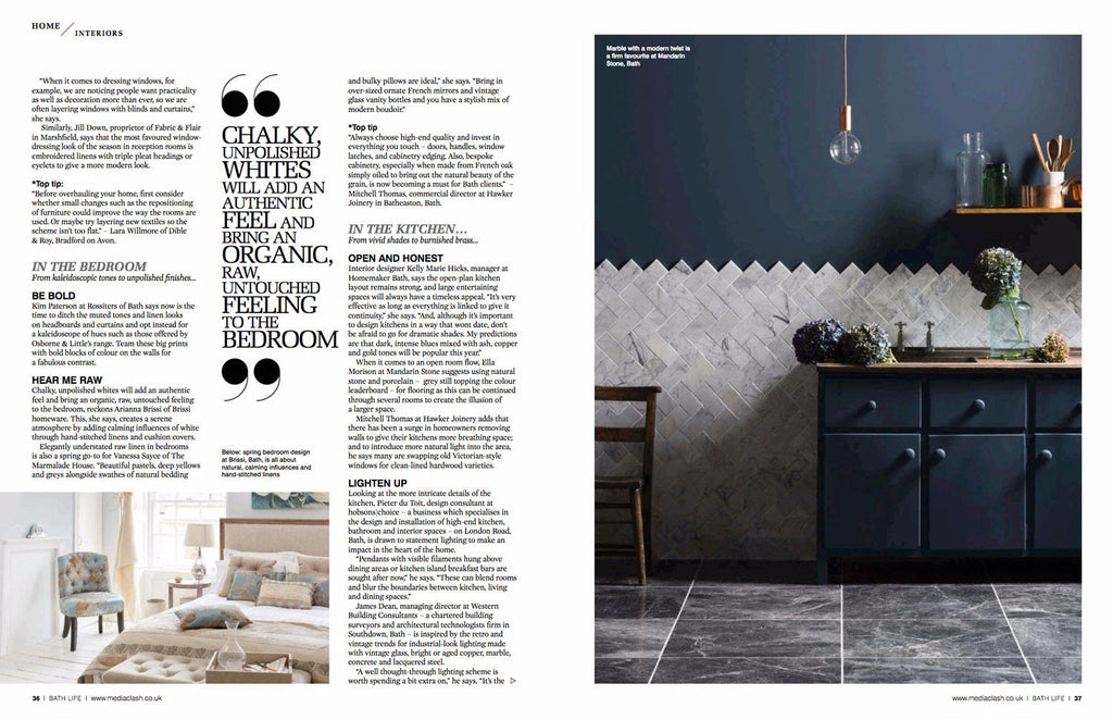 Bath Life Magazine interior feature of Alchemist-in-Chief Sonya Rothwell interior style, cushions, fabric and objet d'art for Gallery Beautiful