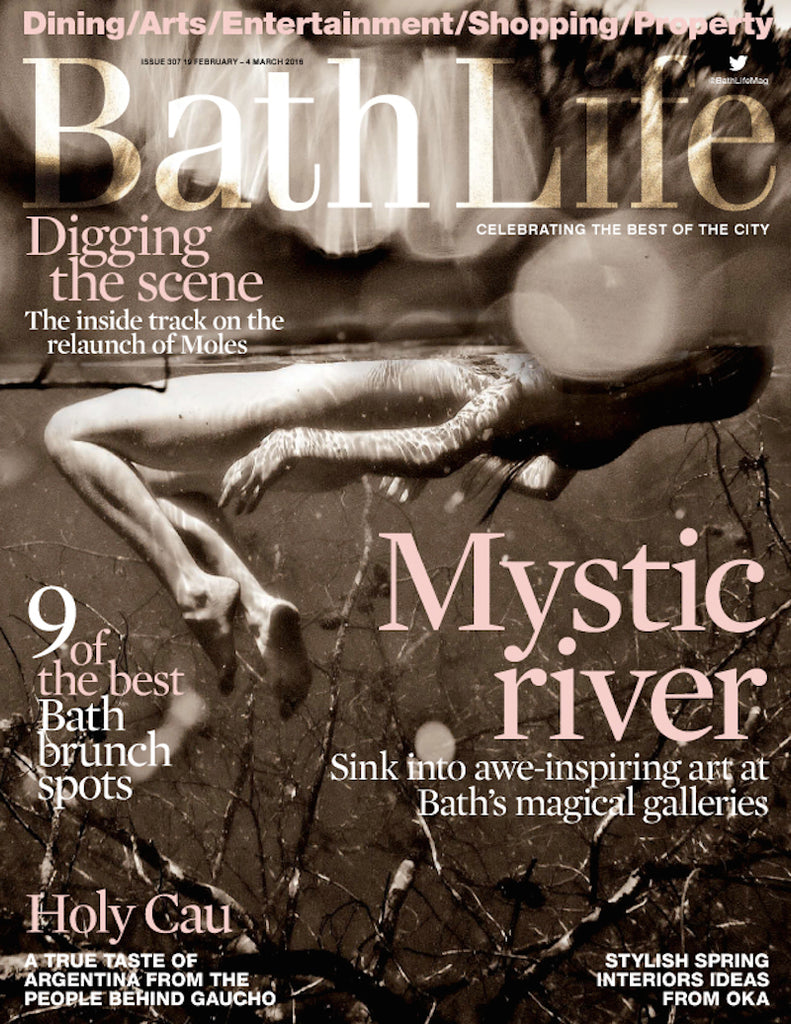 Bath Life Magazine Feburary 2016 cover of Neil Cravers photograph and feature of Sonya Rothwell's oil paintings at Gallery Beautiful