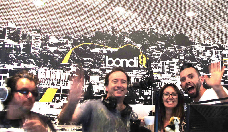 Sonya Rothwell and Australian Adventurer Steve Crombie on the air Bondi FM radio show