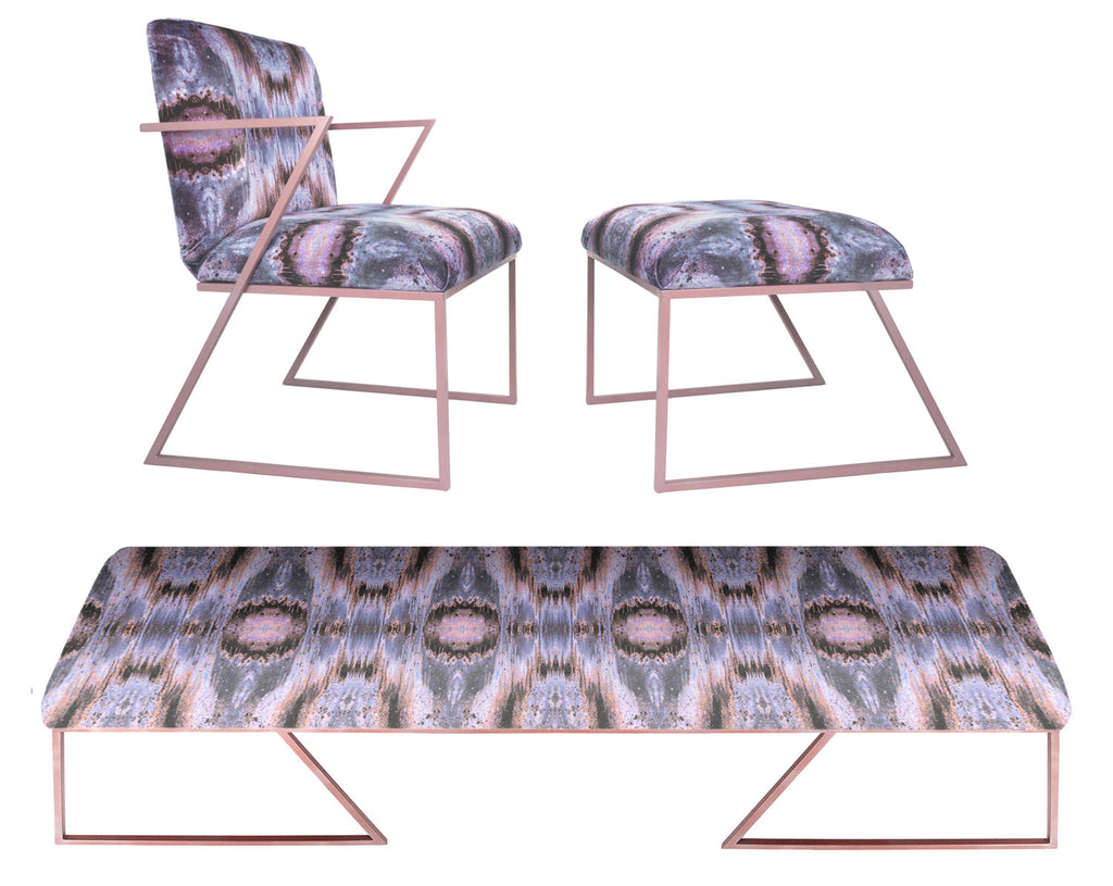 SONYA ROTHWELL x GALLERY BEAUTIFUL IRIDESCENT LIGHTENING COLLECTION : Chairs, Benches, Stools, Pouffes, Bar Stools