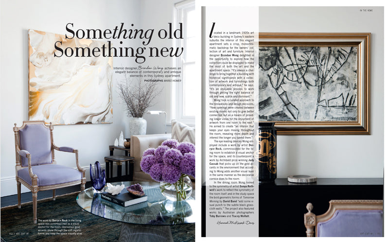 Brendan Wong's stunning interior featuring artwork by Sonya Rothwell of Gallery Beautiful