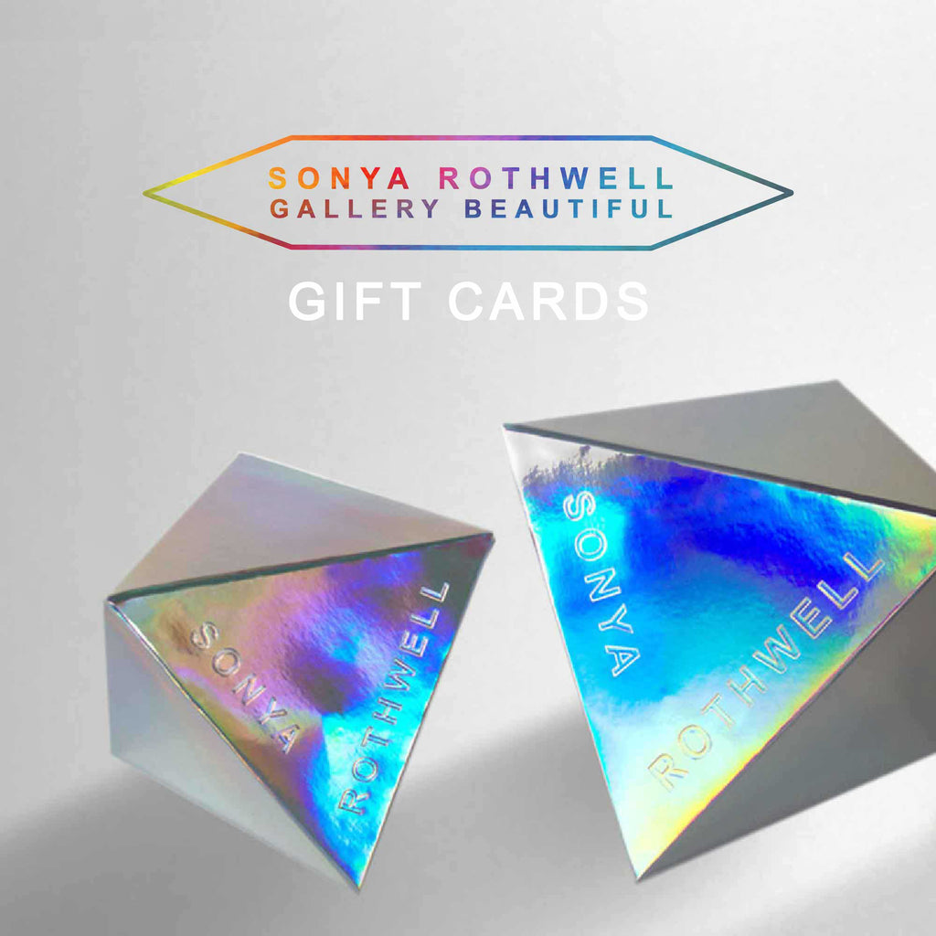 Gallery Beautiful Gift Cards. Let them choose their own exquisite Sonya Rothwell Art + Décor gift ♡ If you looking for special festive gifts, but can't decide. Let your loved one choose their own fine art print, velvet cushion, cashmere scarf, silk tie or pocket square. For specific gift denomination amounts contact the gallery