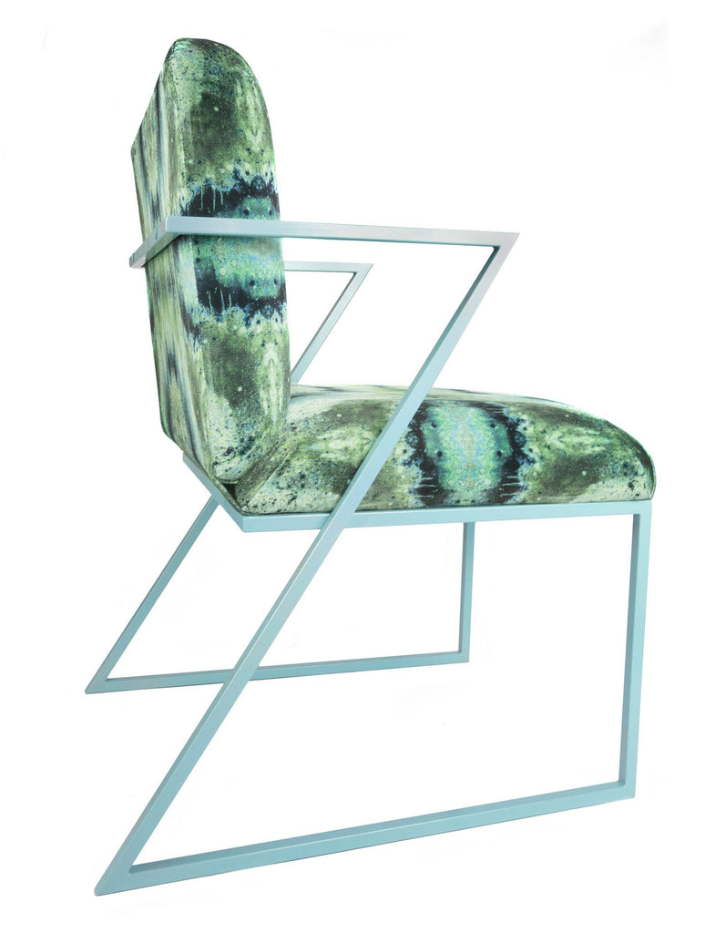 Chair - IRIDESCENT LIGHTENING DINING CHAIR : INFIINIITY BLUE SAGE VELVET