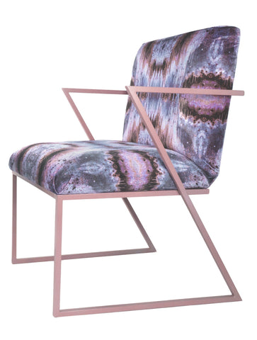IRIDESCENT LIGHTENING DINING CHAIR : INFIINIITY DARK OPAL VELVET