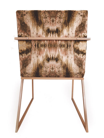 IRIDESCENT LIGHTENING DINING CHAIR : INFIINIITY TUMERIC VELVET