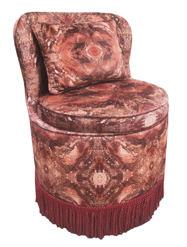 Chair - SONYA ROTHWELL TRITON DINING TUB CHAIR : AMULET SUN VELVET