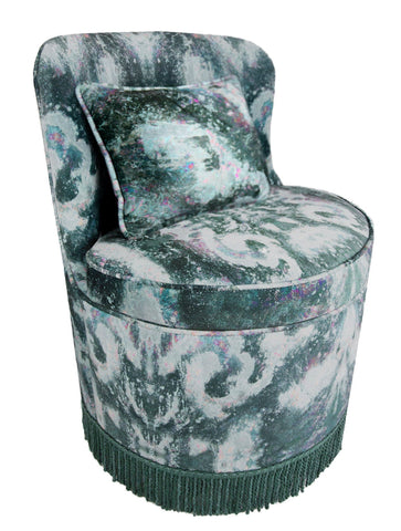TRITON TUB DINING CHAIR : MOKSHA NIGHT VELVET