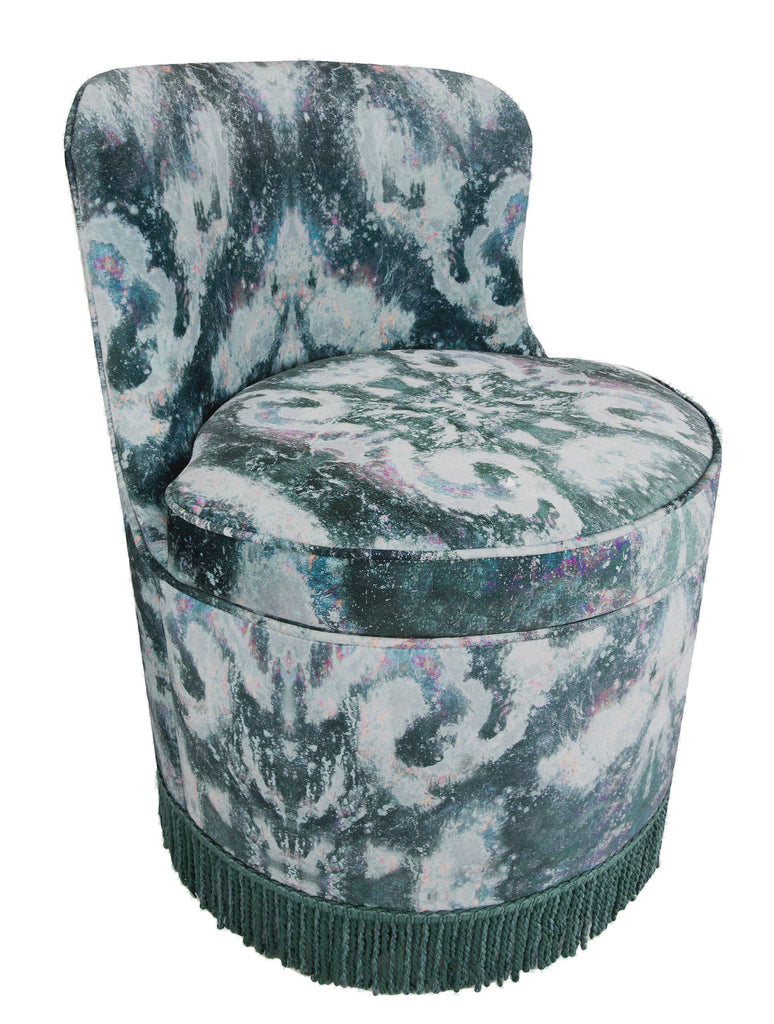 Chair - TRITON TUB DINING CHAIR : MOKSHA NIGHT VELVET