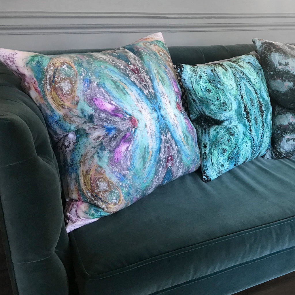 Cushion - SONYA ROTHEWELL BUTTERFLY EFFECT CUSHION : BLU