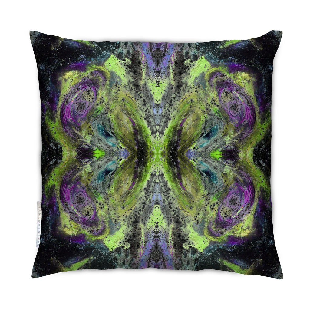 Cushion - SONYA ROTHEWELL BUTTERFLY EFFECT CUSHION : LIME NOIR
