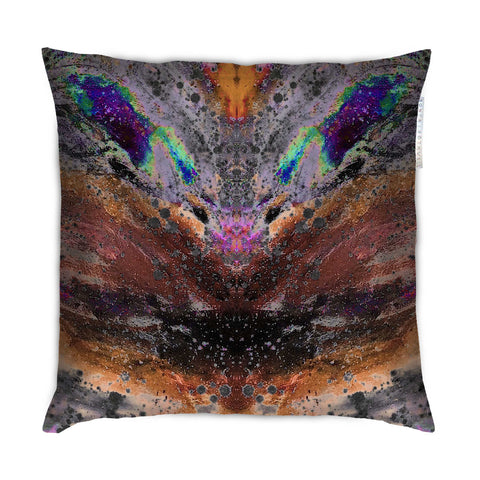 SONYA ROTHEWELL INTERSECTION CUSHION : RUST NOIR
