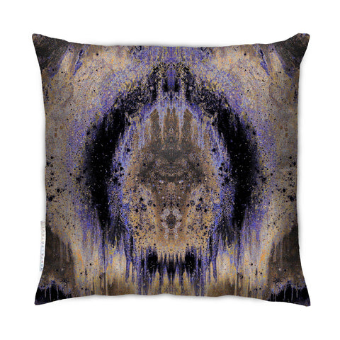 SONYA ROTHEWELL OMEGA CUSHION : PURPLE NOIR
