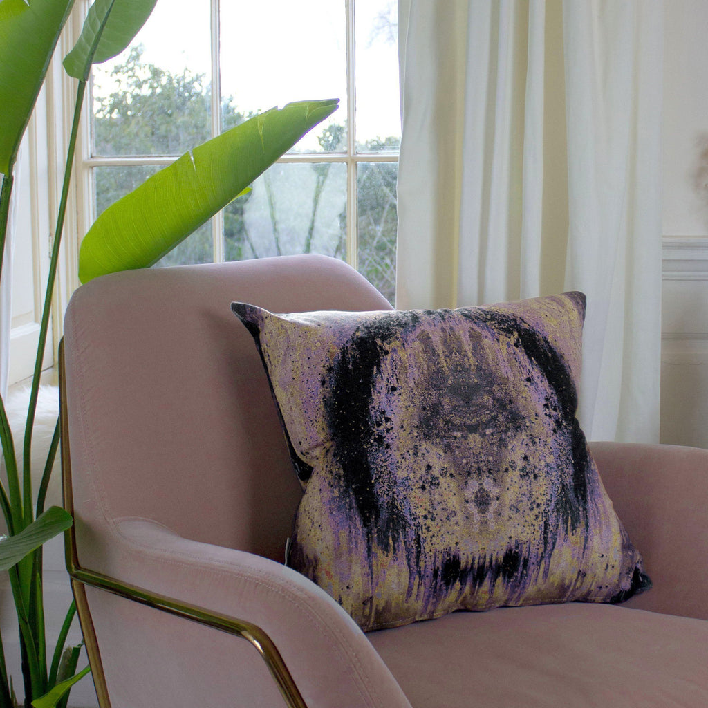 Cushion - SONYA ROTHEWELL OMEGA CUSHION : PURPLE NOIR
