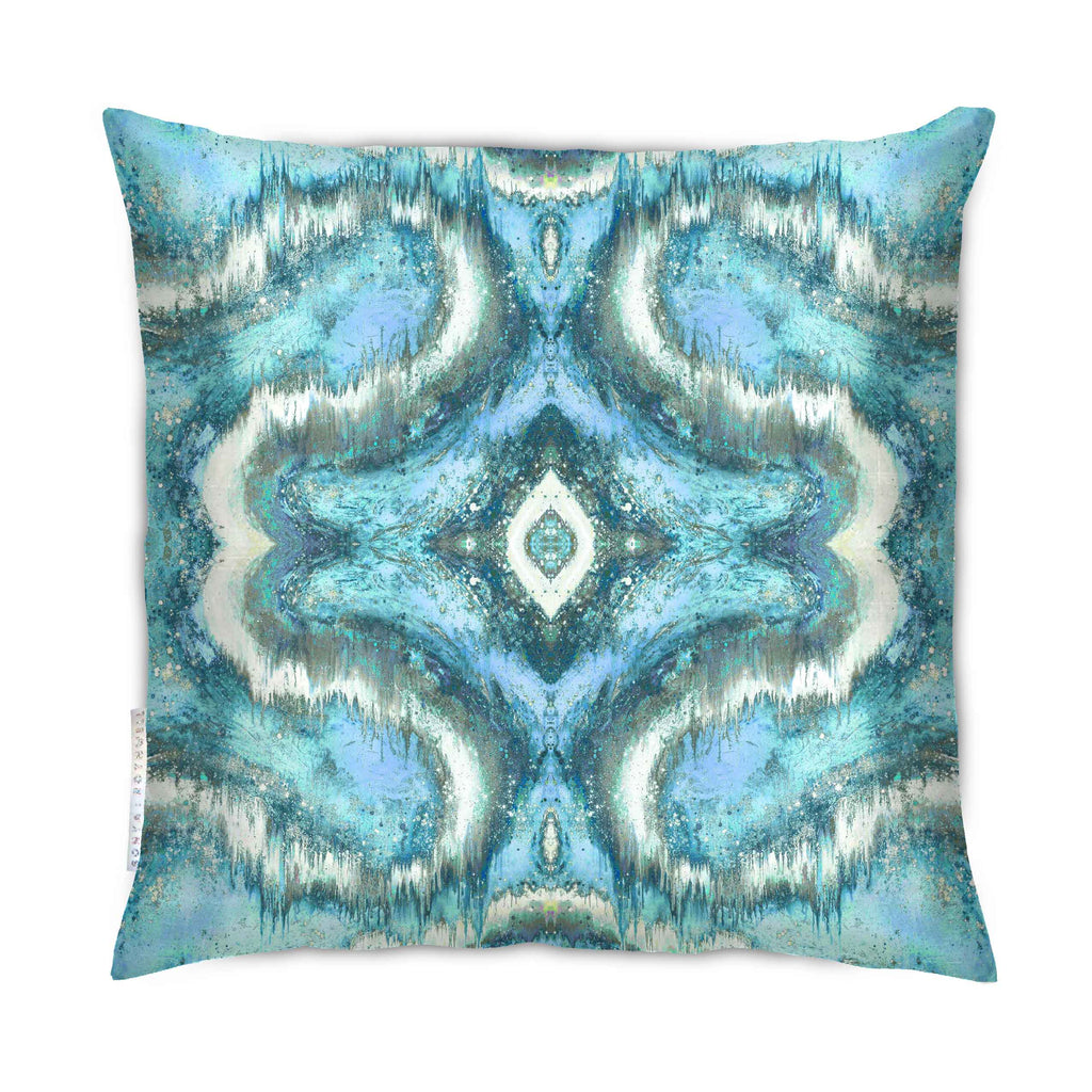 Cushion - SONYA ROTHEWELL SACRED GEOMETRY CUSHION : AQUA