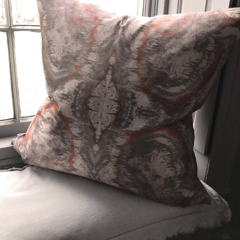 SONYA ROTHEWELL SACRED GEOMETRY CUSHION : ROSE GOLD