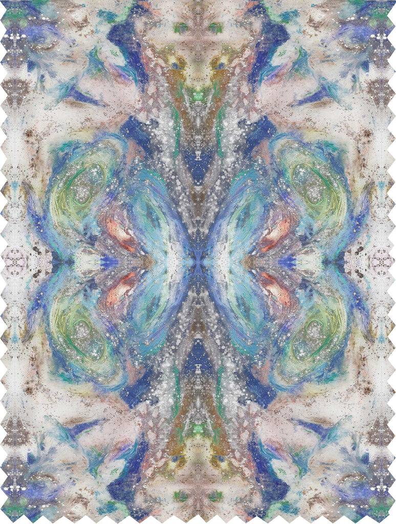 Fabric - SONYA ROTHWELL GREAT GANESH FABRIC : SKY BLUE