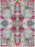 Fabric - SONYA ROTHWELL RAINBOW NAGA FABRIC : HOT PINK