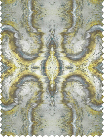 SONYA ROTHWELL SACRED GEOMETRY FABRIC : GOLDEN JADE