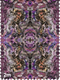 Fabric - SONYA ROTHWELL ZERO POINT FABRIC : TIGER NOIR PINK